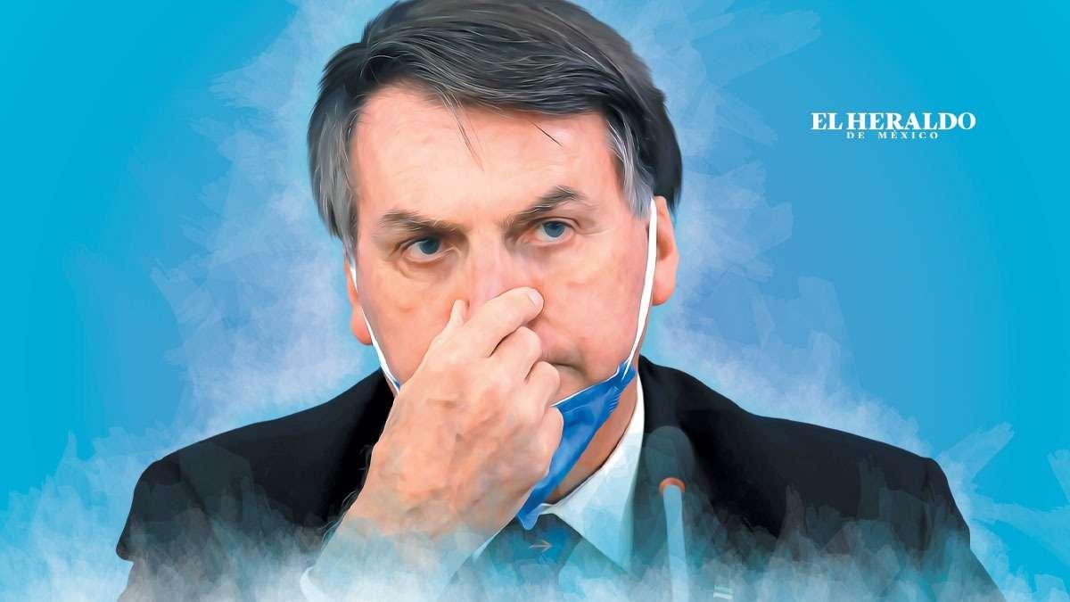 Jair Bolsonaro, presidente de Brasil. Ilustración: Arturo Ramírez