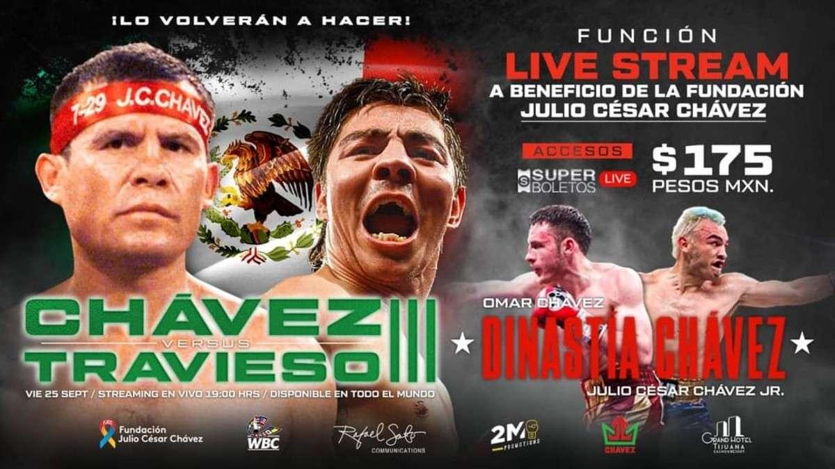 Oficializan Chávez vs Travieso III; será vía streaming
