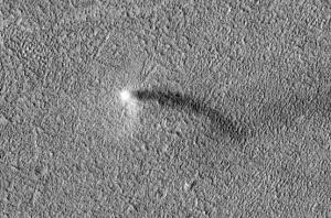 Demonio de polvo captado NASA
