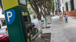 Parquímetros en la Ciudad de México