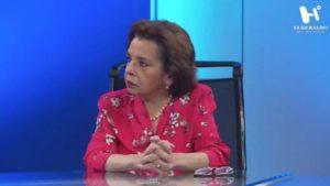 María Guadalupe Lozada en foro de noticas cdmx
