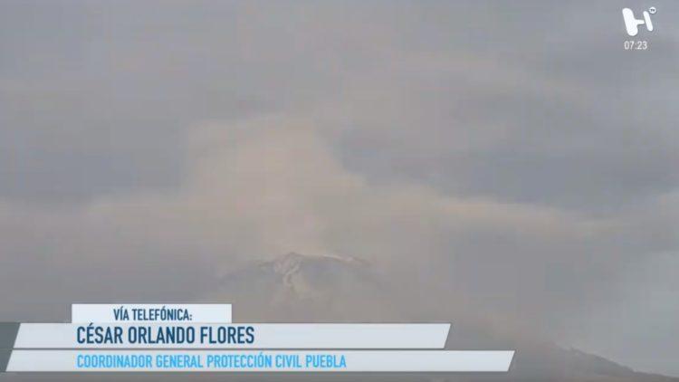 Exhalaciones del Popocatépetl