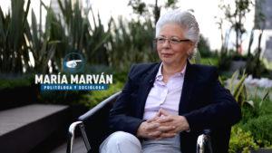 María Marván en el foro de la entrevista con Martha Anaya