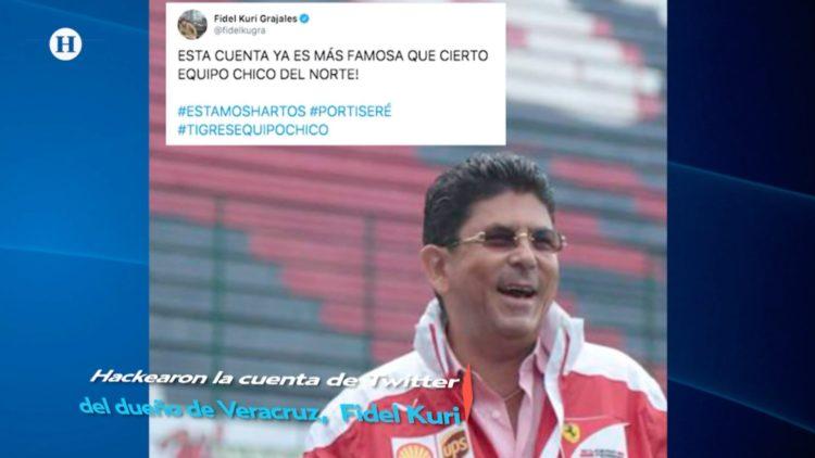 Hackean cuenta de Twitter de Fidel Kuri, dueño del Club Veracruz
