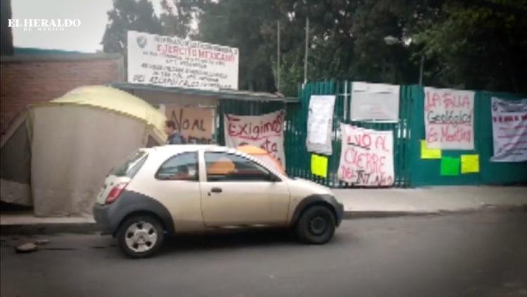 Bloqueo de vías Azcapotzalco