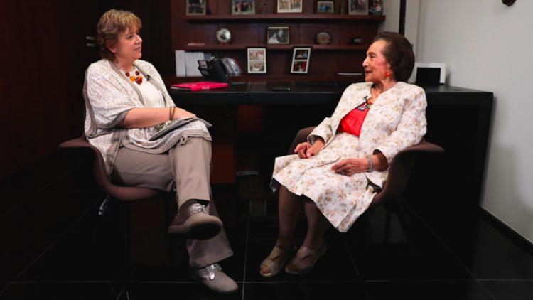 Ifigenia Martínez en la entrevista por Martha Anaya