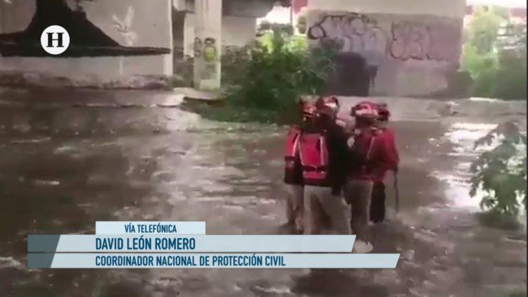 David León Romero habla sobre las lluvias en Monterrey