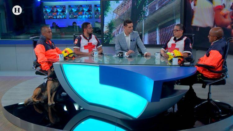 Protección Civil Cruz Roja binomios caninos El Heraldo TV Análisis Político Maximiliano Espejel
