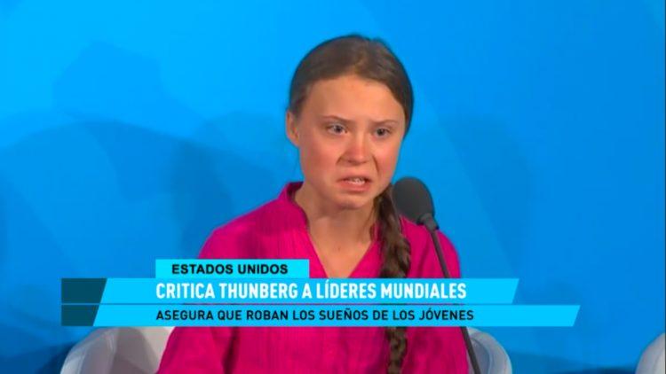 Thumberg critica líderes mundiales