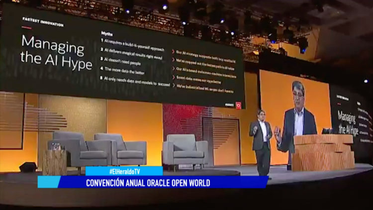 Convención Oracle Open World datos tecnológico