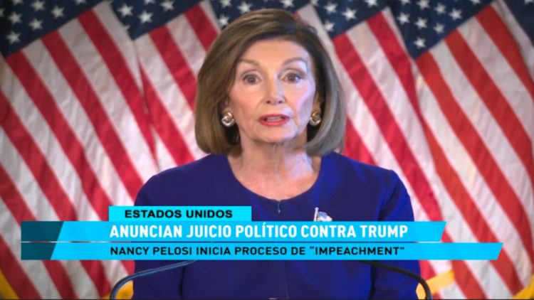 Pelosi Anuncia juicio político contra Donald Trump