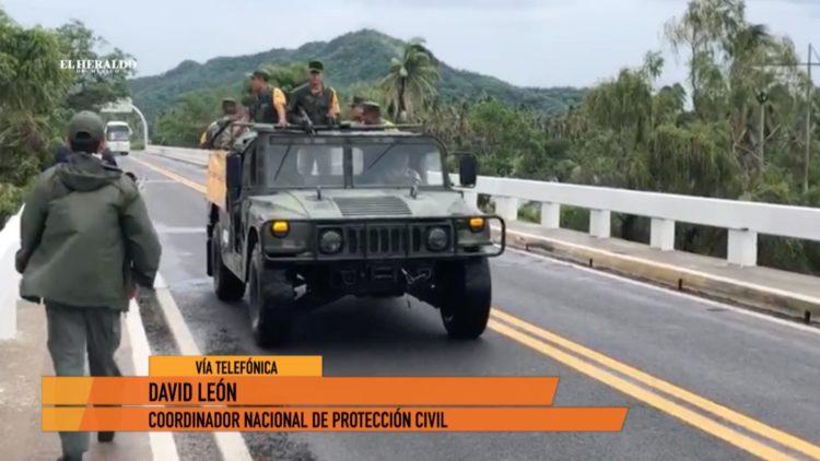Protección Civil Narda Baja California Sur Sonora El Heraldo TV David León