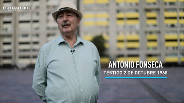 Antonio Fonseca testigo Movimiento 2 de octubre 68