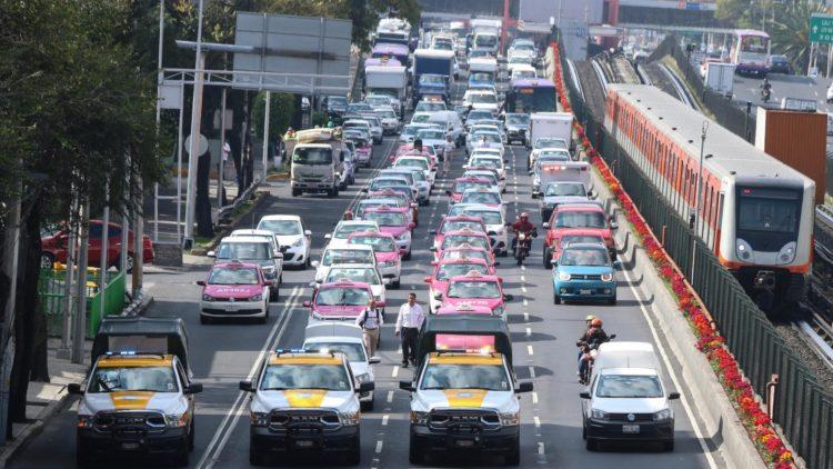taxistas bloqueo