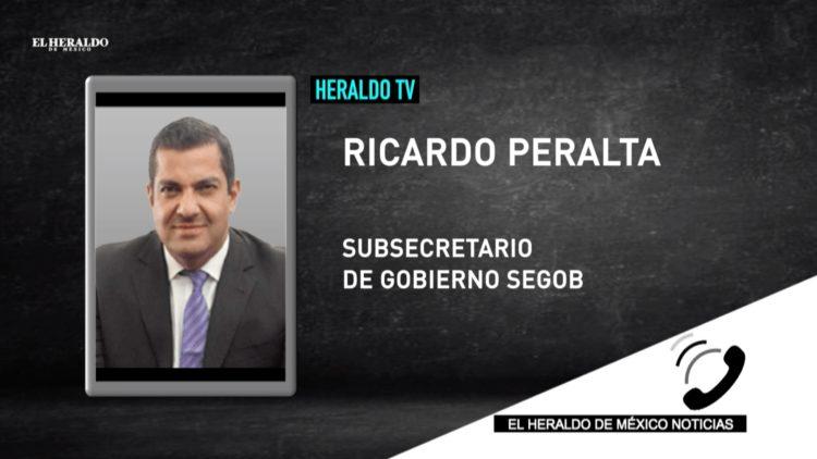 Segob Ricardo Peralta taxistas manifestación CDMX El Heraldo TV