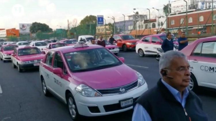 Marcha que afectó a millones de capitalinos taxi