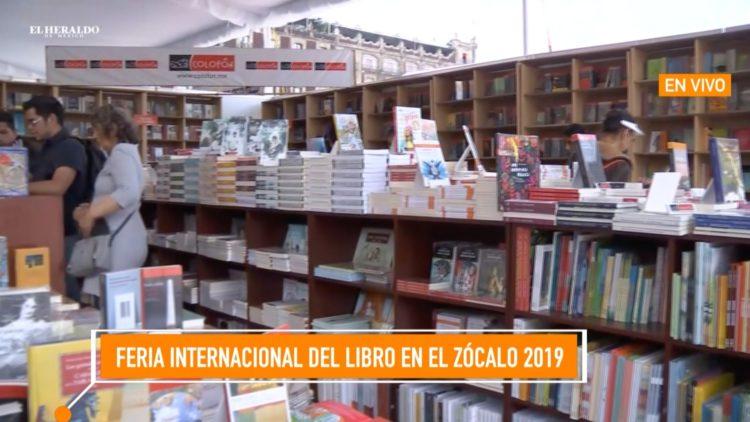 Feria Internacional del libro del zócalo 2019 Noticias México El Heraldo TV