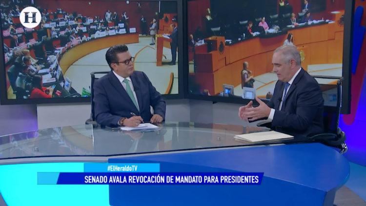 Senado aprueba revocación de mandato; debate con Julen Rementería y Oscar Eduardo Ramírez