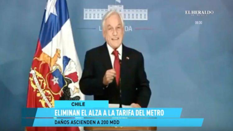 Sebastián Piñera elimina alza en tarifas del metro