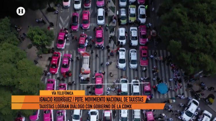 Ignacio Rodríguez Movimiento Nacional Taxista manifestación El Heraldo TV