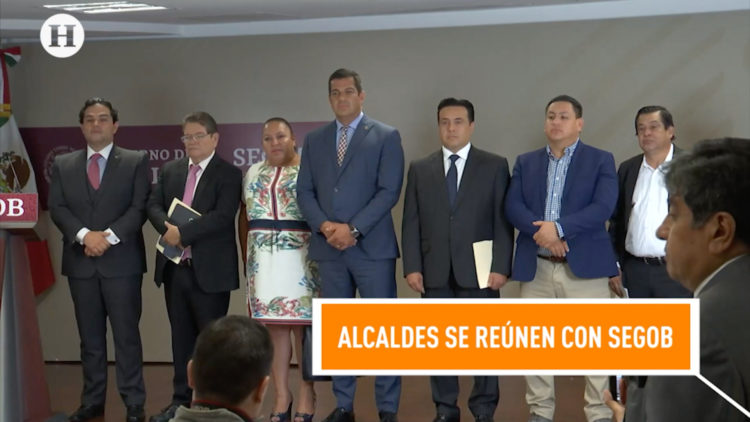 presidentes municipales en Palacio Nacional