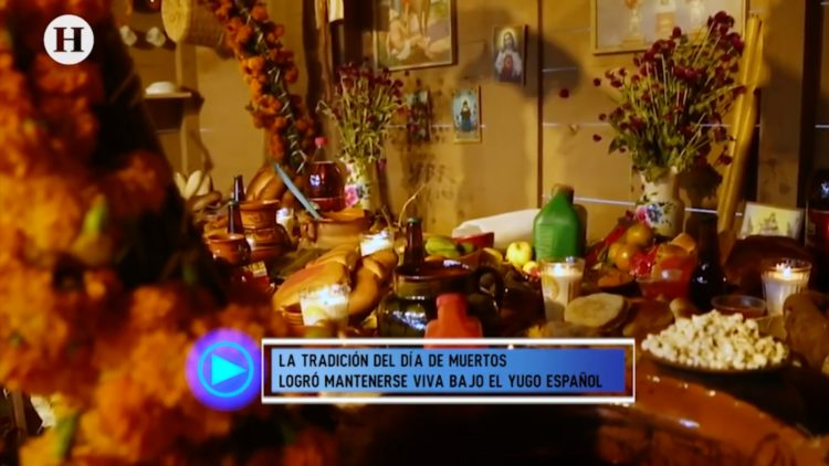 Elementos de una ofrenda de Día de Muertos que provienen de la época prehispánica (1)