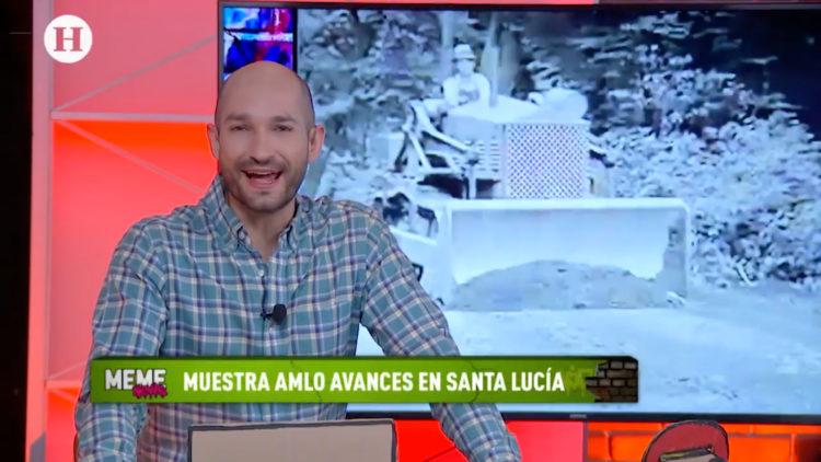 AMLO muestra avances de Aeropuerto de Santa Lucía