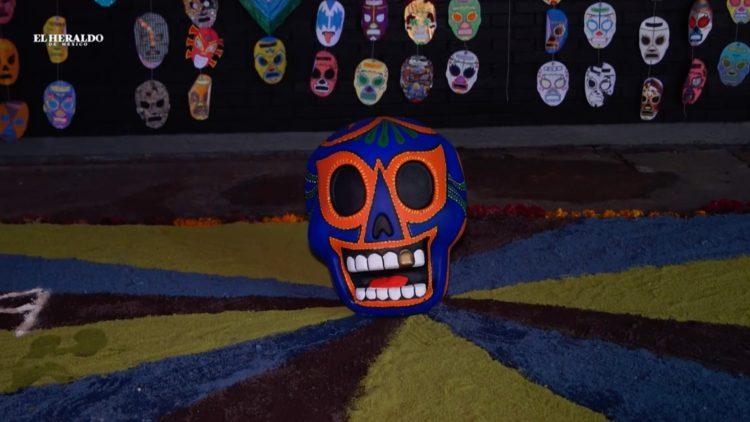 ofrenda lucha libre UNAM arte diseño El Heraldo TV