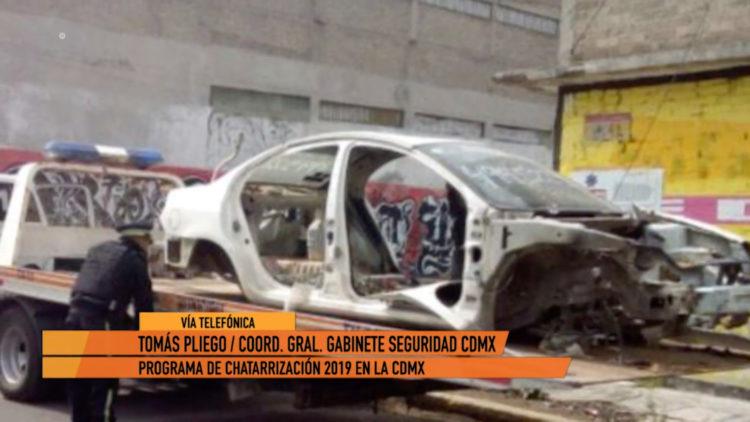 Tomás Pliego asegura que autos chatarra de las calles irán al deshuesadero