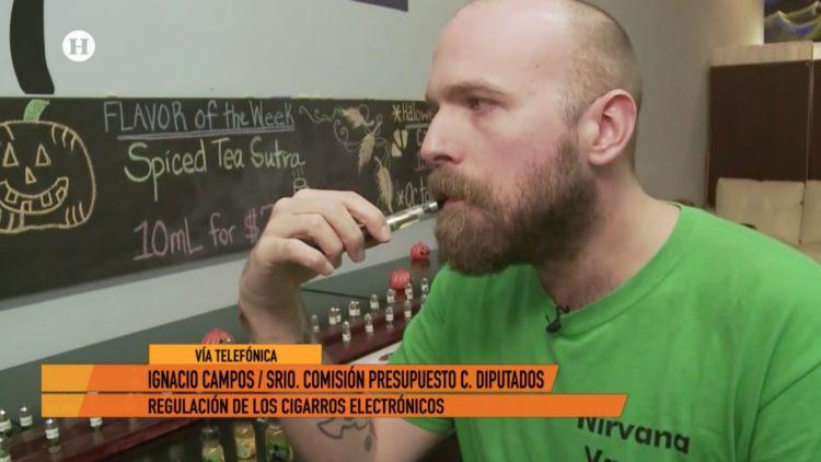 cigarro electrónico Ignacio Campos El Heraldo TV Noticias México