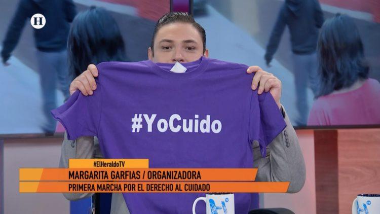 Margarita Garfias Cuidadores El Heraldo TV marcha Monumento a la Madre