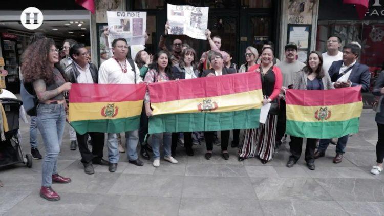 Comunidad boliviana en México rechaza llegada de Evo Morales; Reportaje de El Heraldo TV