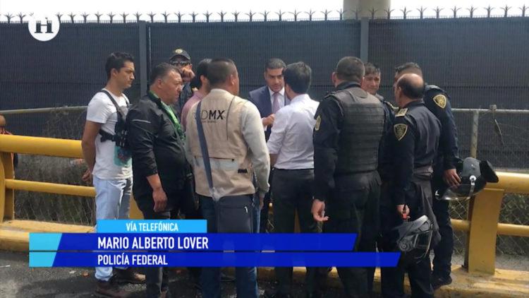 Policías federales sí estaban armados en manifestación de AICM_ Mario Alberto Lover