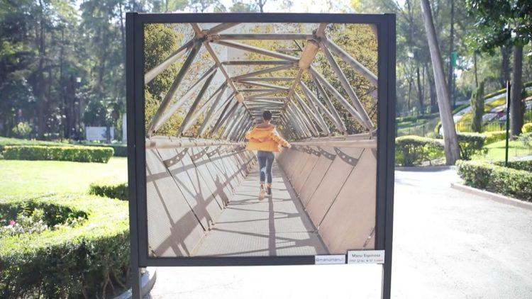 Fotografía Parque Hundido exposición El Heraldo TV reportaje