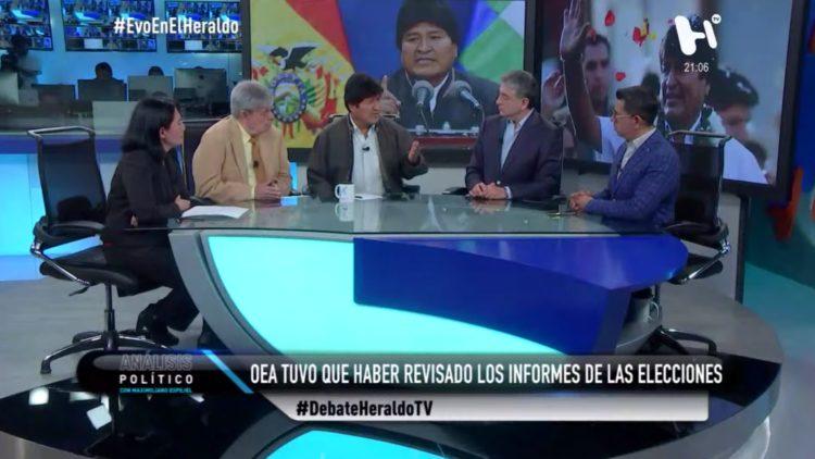 Evo Morales Bolivia El Heraldo TV Estados Unidos elecciones