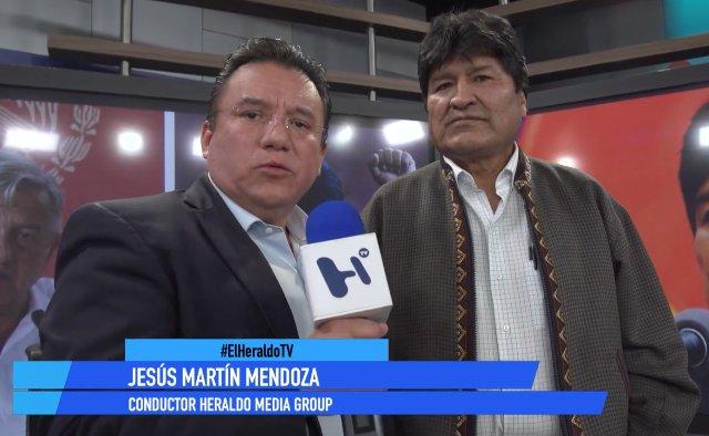 Evo Morales y Jesús Martín Mendoza