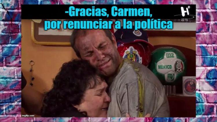 Carmen Salinas renuncia de la política permanentemente
