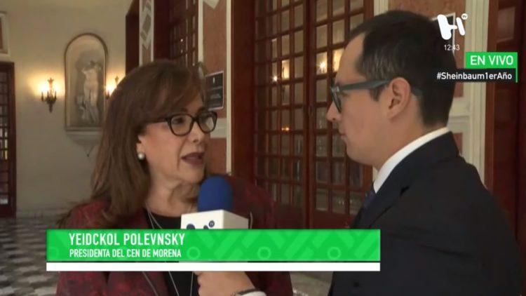 Yeidckol Polevnsky entrevista sheinbaum
