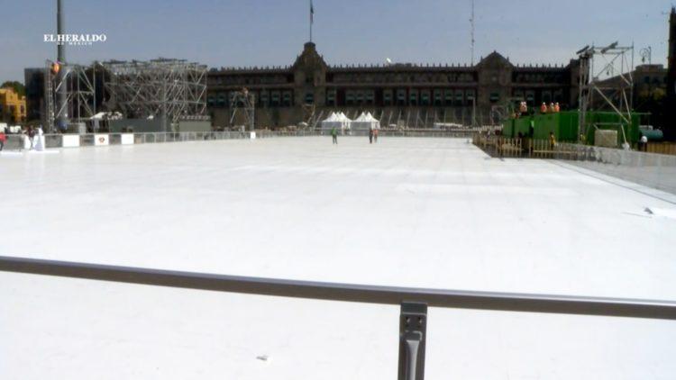 Pista de hielo CDMX acrílico El Heraldo TV