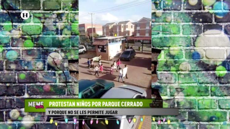 Niños protestan por cierre de parque y prohibirles jugar HOY