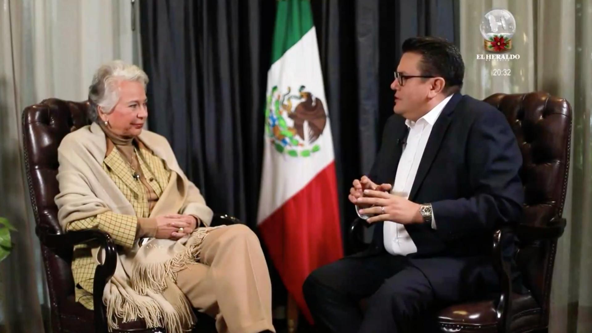 Salvador García Soto en entrevista con la secretaria de Gobernación, Olga Sánchez Cordero