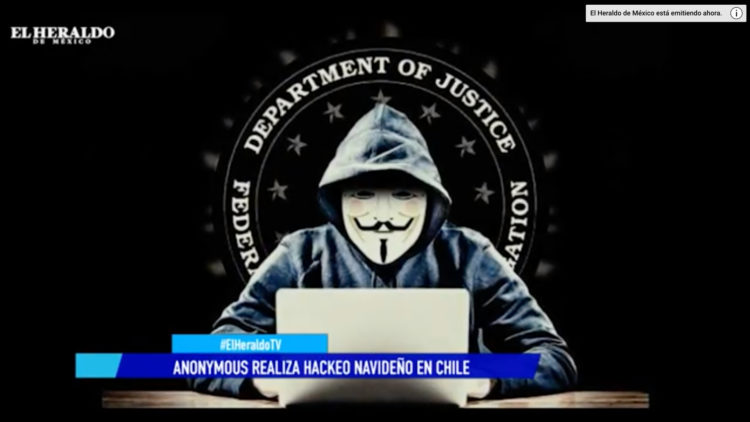 Anonymous realiza hackeo en chile