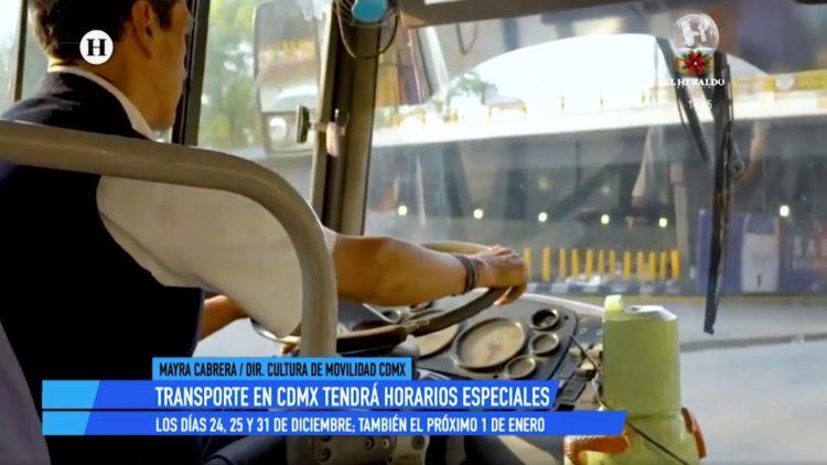 transporte CDMX Navidad El Heraldo TV