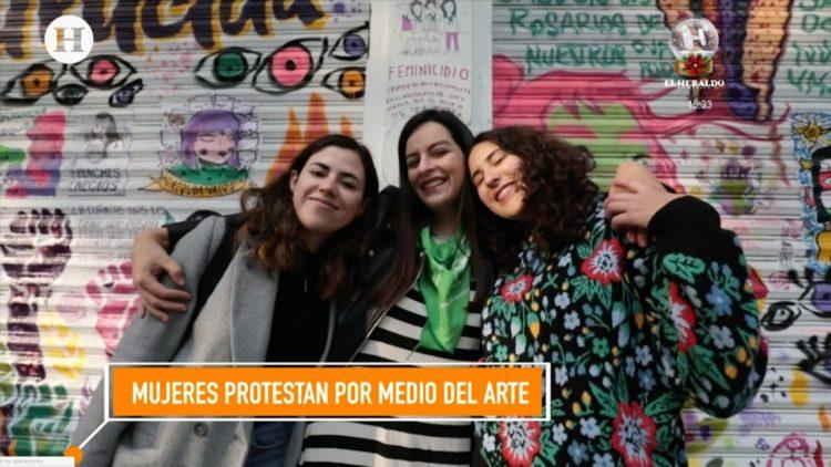 Mujeres protestan por medio del arte reportaje El Heraldo TV