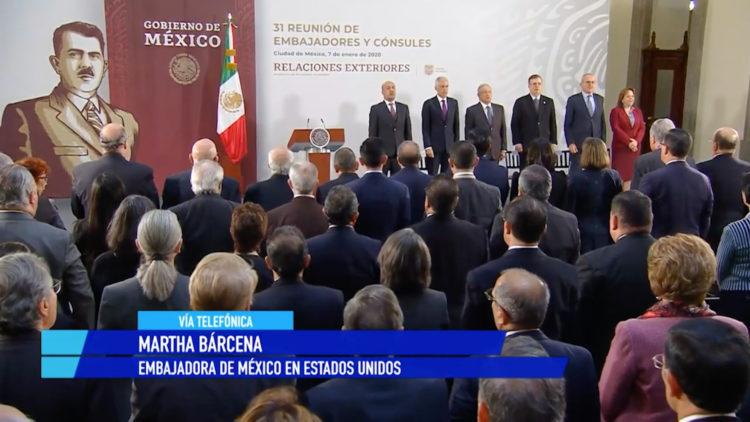Año complejo y de retos en materia de política exterior Martha Bárcena