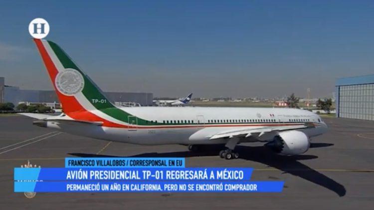 Avión presidencial no ha estado en venta, asegura administración del Aeropuerto de EU