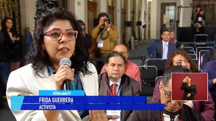 activista Frida Guerrera AMLO conferencia mananera El Heraldo TV