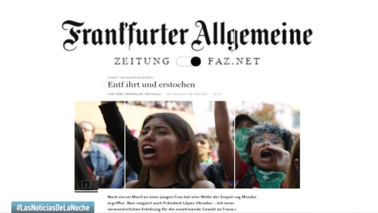 medios internacionales Francia Alemania feminismo violencia contra las mujeres Mexico