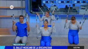 Ballet Mexicano de la Discapacidad en estudio de Noticias de la noche