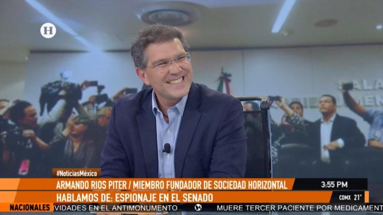 Armando Rios Piter espionaje Senado Republica PAN